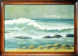 Simply Serene Mid 20th Century American Original Oil