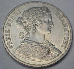 1866 Double Taler Frankfurt German States, Historic