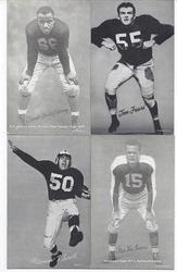 1940-50'S FOOTBALL EXHIBIT CARDS
