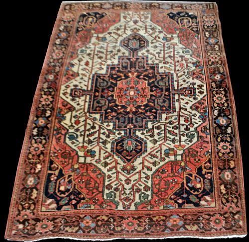 Very Rare Antique Persian Sarouk Farahan 3.5x4.10