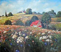 Mark Braver Home In The Fields Original Oil