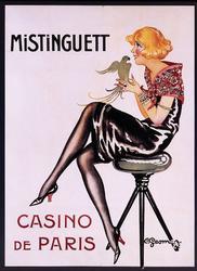 Charles Gesmar Giclee, Mistinguett Casino De Paris