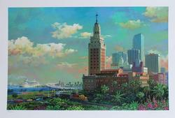 Alexander Freedom Tower And The Port Of Miami