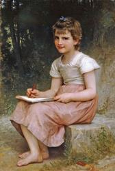 William Bouguereau, 'A Calling' Color Giclee