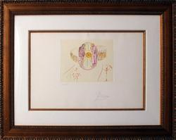 Very Rare, Collectable Dali Hand Signed