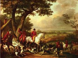 Carle Vernet 'hunt In The Park' Giclee On Canvas