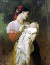 William Bouguereau 'Maternal Admiration' Giclee