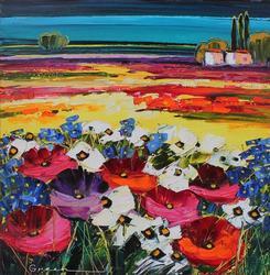 Maya Green 'Wild Flower Fields' Original
