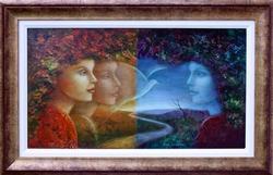 Rina Sutzkever At Peace Original Oil On Masonite