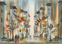 Armin Birkel Arcade Rare Giclee On Canvas