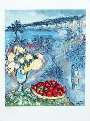 Marc Chagall, Fruits Et Fleurs Devant La Mer