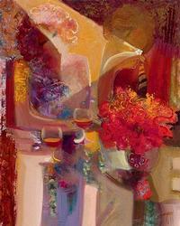 Hand Embellished Sabzi Giclee