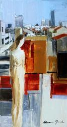 Adriana Naveh 'Love And The City' Acrylic Original