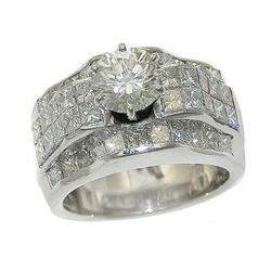 ENCHANTING 1.34CTTW DIAM WIDE BAND RING, NEAR COLORLESS