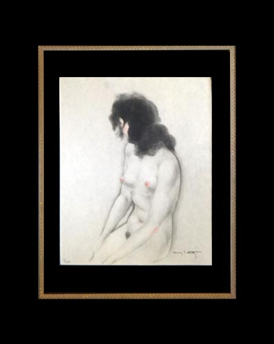 ICART HAND COLORED GRAVURE ETCHING