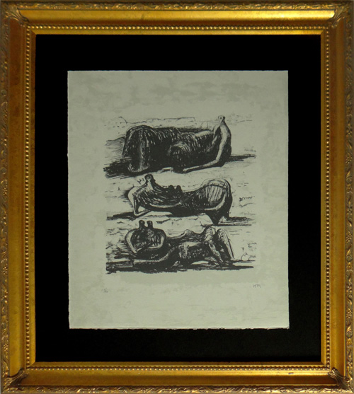 INVESTMENT QUALITY HENRY MOORE, THREE RECLINING FIGURES
