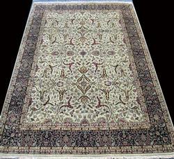 Lustrou & Delightful  Extremely Fine Silk Blend Persian-Pak Tabriz Carpet