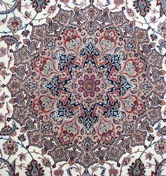 Utterly Inspiring 1970s Fine Authentic Hand Woven Silk Persian Isfahan