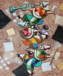 Amazing Oz El Hai Original Acrylic On Canvas