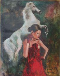 Rare Hand Singed Joarez Filho Original Acrylic