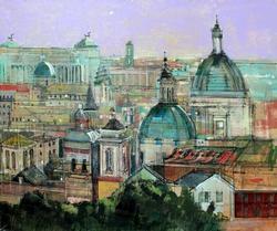 Alex Zwarenstein 'Rome Rooftops' Giclee