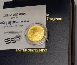 2008 $5 US Gold Bald Eagle Unc Coin in Box With Papers