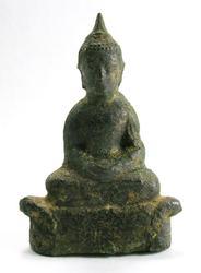 17TH CENTURY ANTIQUE THAI BUDDHA BRONZE STATUE