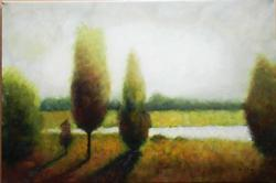 INTRIGUING LANDSCAPE SCENE OIL PAINTING ON CANVAS