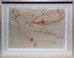 Rare Salvador Dali 'nus' Signed Lithograph
