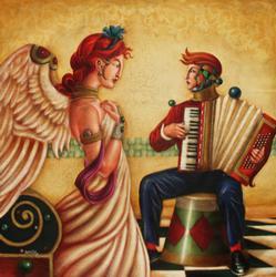Spectacular Edgar Barrios Hand Painted Artwork