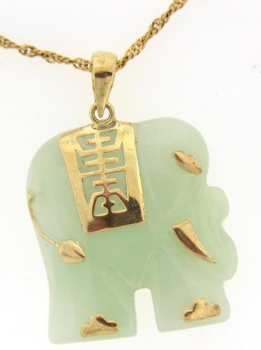 Very elegant jade elephant pendant usauctionbrokers very elegant jade elephant pendant aloadofball Gallery