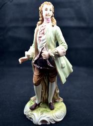 Collectible Porcelain Man Figurine by Lefton Japan