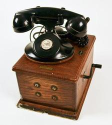 1930's Western Electric Oak Case Wall Ringer Box Phone