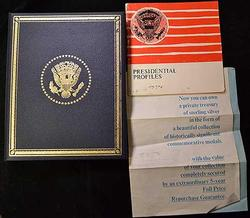 FRANKLIN MINT TREASURY OF PRESIDENTIAL COMMEMS SILVER