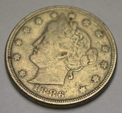 Key Date 1886 V Nickel