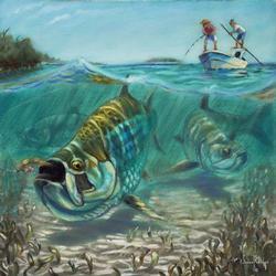Jason Mathias 'Tarpon Fever' Giclee on Canvas