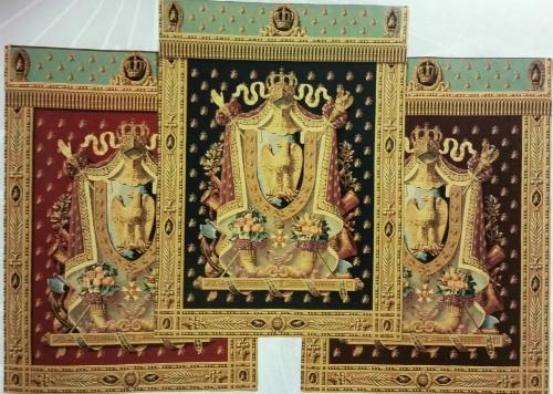 HIGH QUALITY TAPESTRY OF NAPOLEONIC EMBLEM
