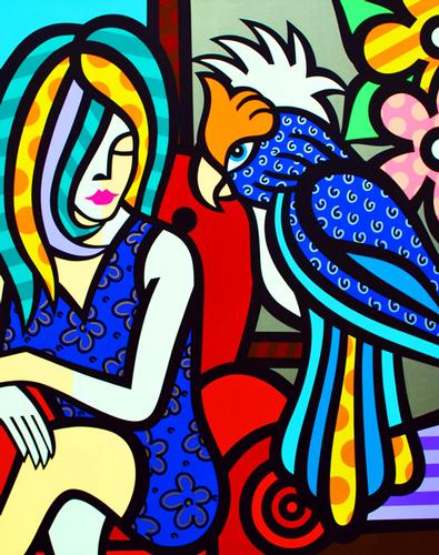 COLLECTIBLE LIMITED EDITION COLORFUL JOZZA ON CANVAS