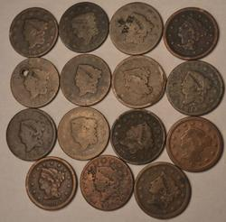 15 Assorted Large Cents