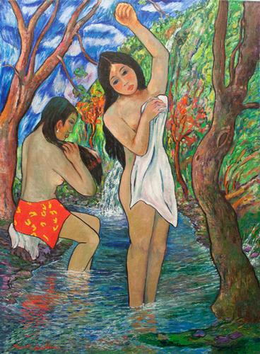 MURAL SIZE ORIGINAL OIL BY MANOR SHADIAN