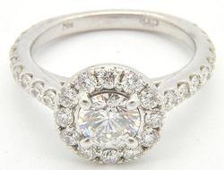 LADIES 14KT WHITE GOLD 2.5+CTW DIAMOND RING