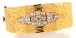 Vintage 14K Yellow Gold 2ctw Diamond Bracelet