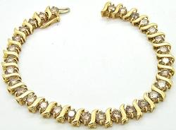 10 CTW Diamond Bracelet in 14kt Gold