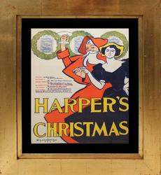 1895 EDWARD PENFIELD'S VINTAGE POSTER HARPERS CHRISTMAS