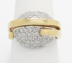 Very Unique Diamond Ring 18K Gold