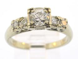 ANTIQUE VERY ELEGANT LADIES DIAMOND RING, 14KT GOLD