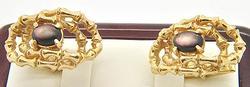 Intriguing 14kt Yellow Gold Cufflinks