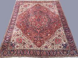 Rare 1950s Authentic Vintage Persian Serapi, Signed by Master Weaver Rumi