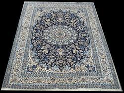 Fantastic Very Fine Part Silk Authentic Royal Persian Nain-Isfahan