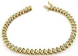 LADIES 14KT DIAMOND TENNIS BRACELET